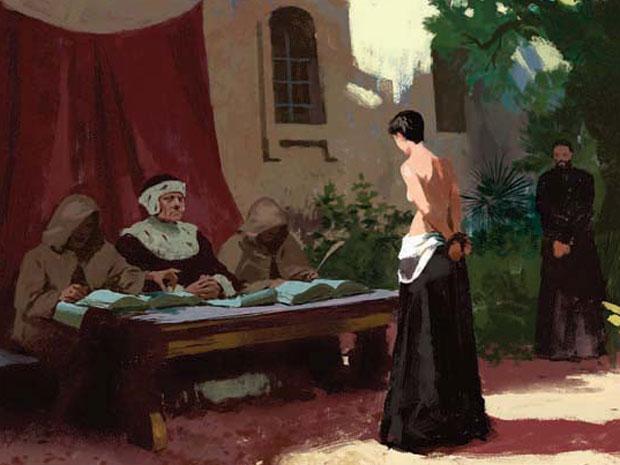 Única punição severa dos arquivos: Paula de Sequeira confessou ao Santo Ofício um 'caso' com Felipa de Sousa. Levou chibatadas em praça pública e foi expulsa da capitania