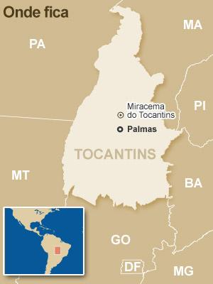 Veja onde fica Miracema do Tocantins