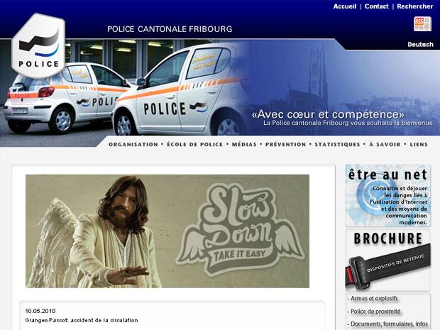 Site da polícia traz localidade dos anjos das estradas