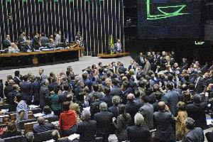 Plenário da Câmara durante a votação do projeto ficha limpa, nesta terça (11)