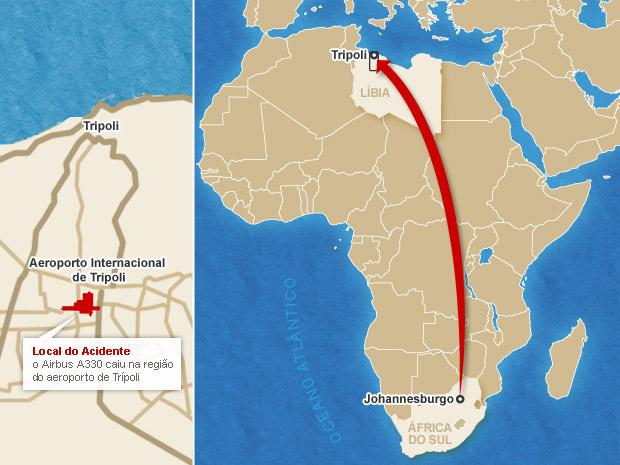 mapa acidente aéreo trípoli 2