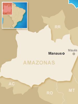 Mapa acidente Manaus avião