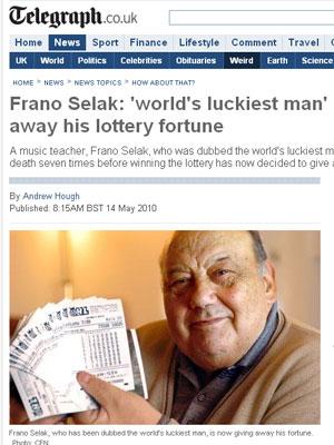 Frano Selak quer voltar para casa humilde em vilarejo na Croácia