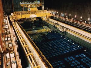 Armazenamento temporário do combustível nuclear