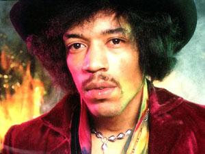 O guitarrista Jimi Hendrix