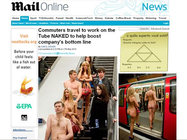 Atores circulam pelo metrô de Londres