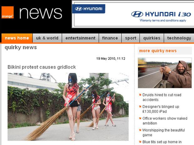 Estudantes chamaram a atenção no sudoeste da China
