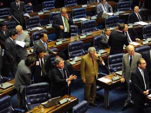 O plenário do Senado nesta quarta-feira (19)