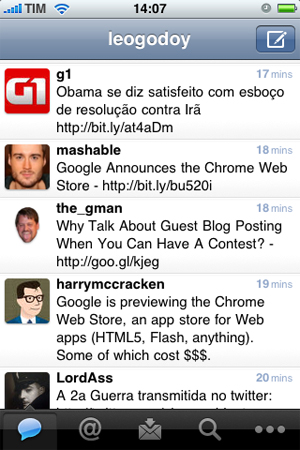 Twitter para iPhone pode ser baixado gratuitamente.
