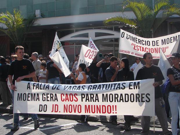 Protesto em Moema