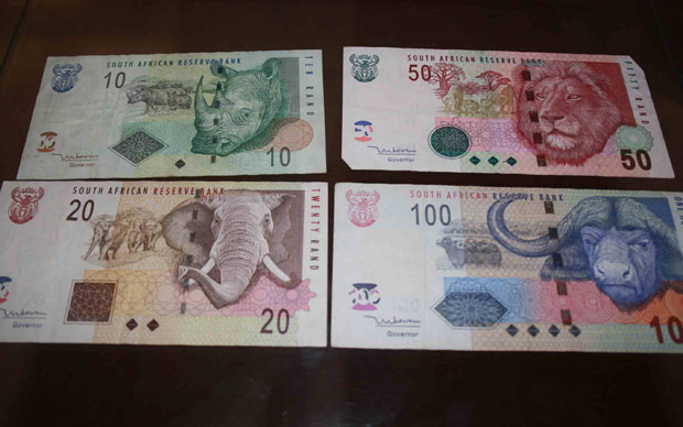 As notas de rand trazem a imagem dos animais que formam o 'Big Five' na África do Sul