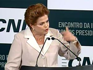 Dilma Rousseff em encontro com presidenciáveis na CNI