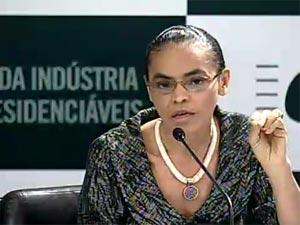 Marina Silva em encontro com presidenciáveis na CNI