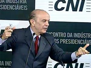 José Serra em encontro com presidenciáveis na CNI