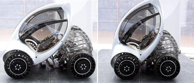 O Hiriko Citycar é dobrável, ocupando menos espaço ao ser estacionado. A produção do carro está programada para 2012. Depois, o carro será testado em cinco cidades do mundo.