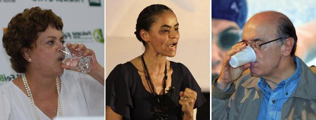 Dilma, Serra e Marina