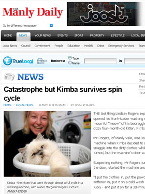 Kimba foi descoberta na máquina por Margaret Rogers