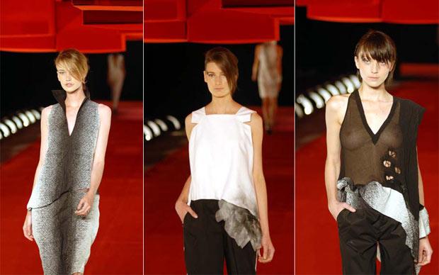 Modelos apresentam looks de Mara Mac no Fashion Rio