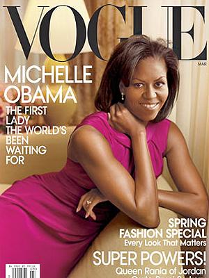 Michelle Obama em capa de revista: para diretora de grife, ela sabe se vestir.