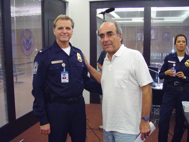 David Rasche junto com o diretor José Joffily