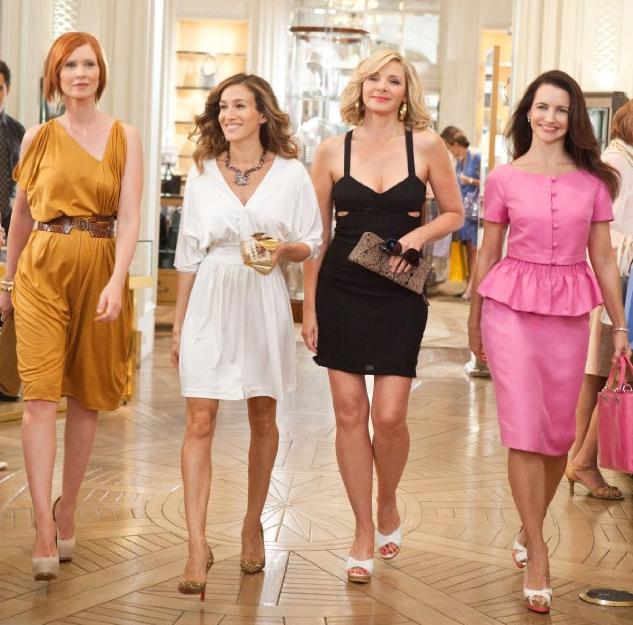Miranda, Carrie, Samantha e Charlotte em cena da estreia 'Sex and the city 2'.
