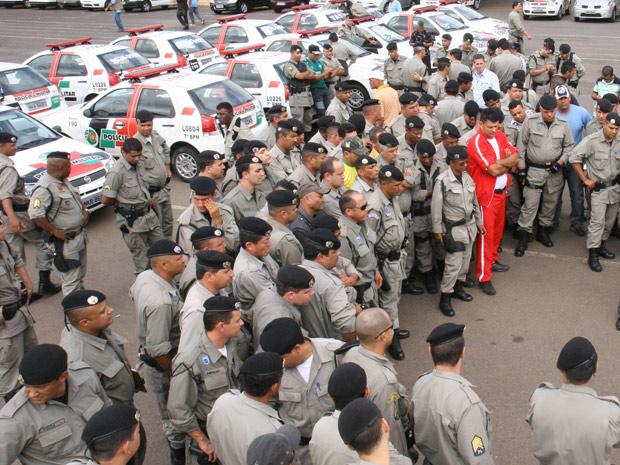 Policiais militares em Goiânia