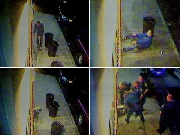 Ladrão ficou preso na porta principal da loja de conveniência