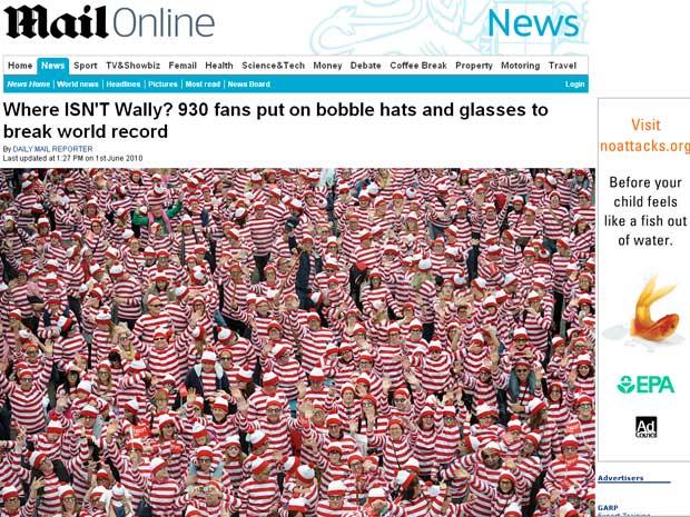 930 pessoas se vestiram de Wally na segunda-feira (31), em Norfolk