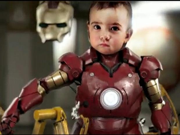 margaret é estrela do vídeo Iron Baby