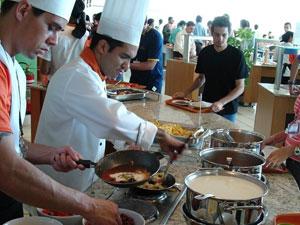 Restaurante com o serviço Comida Brasil