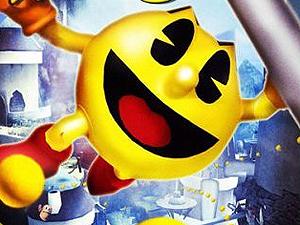 Detalhe da capa de game de 'Pac man'.