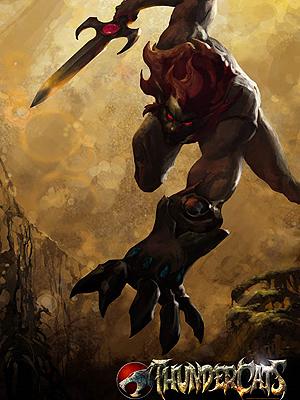 O personagem Lion, em amostra do estilo da nova série animada  'Thundercats'.