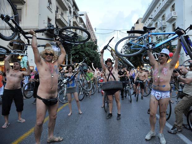ciclistas pelados