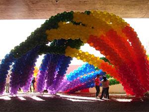 Parada Gay em São Paulo em 2009 (Foto: G1)