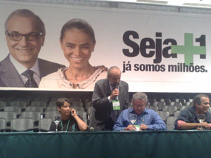 Convenção do Partido Verde (PV), em Brasília