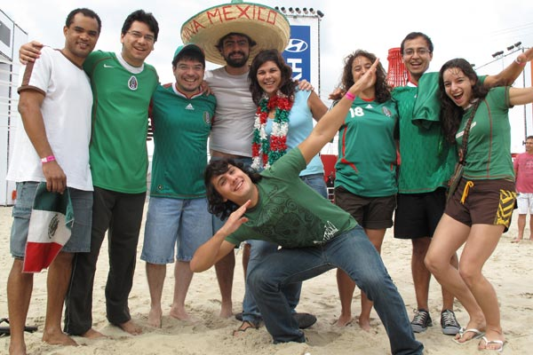 fifa fan fest - torcedores mexicanos - copa