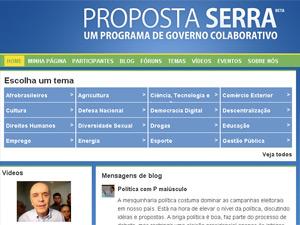 Página 'Proposta Serra'