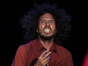 Zack de la Rocha, vocalista do Rage Against the Machine, no Rock in Rio Madri