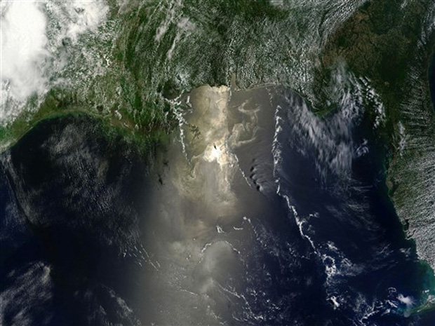 Mancha de Óleo Nasa satélite