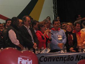 Dilma discursa durante convenção do PDT