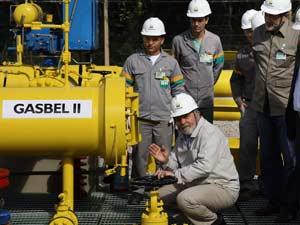 Presidente Lula durante visita ao Gasoduto Rio de Janeiro-Belo Horizonte II (Gasbel II), em Queluzito/M