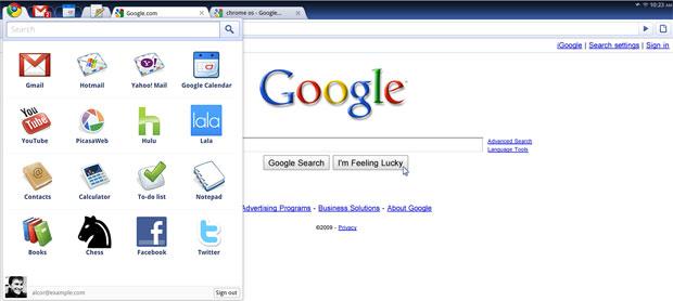 Novo sistema do Google promete funcionar inteiramente com aplicativos da internet.
