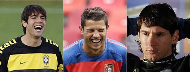 Kaká, Cristiano Ronaldo e Lionel Messi: SPFW teve comentários afiados sobre craques.