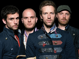 A banda Coldplay,com Chris Martin a frente