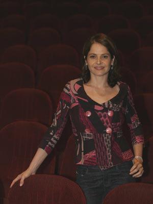 Atriz Drica Moraes, na apresentação da série 'Decamerão', em 2009