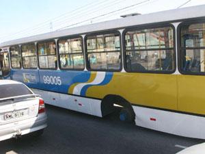Acidente ônibus Zona oeste roda