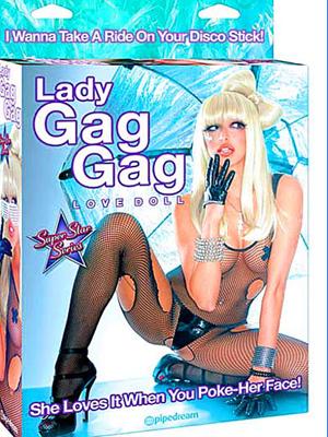 Imagem da boneca inflável Lady Gag Gag