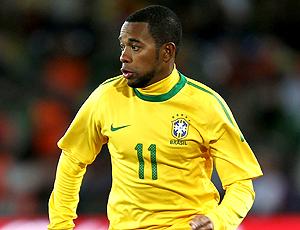Robinho en el estreno de Brasil