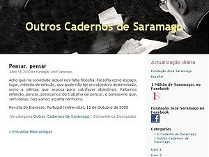 Site reunia de textos inéditos a trechos de entrevistas de José Saramago