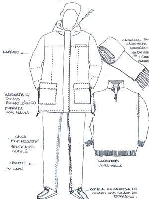 Look sugerido por Lu Pimenta, da Daslu, para Dunga: tecido tecnológico e nada de terno.